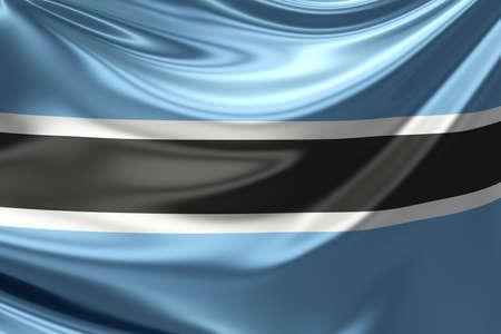 botswana: Flag of Botswana.