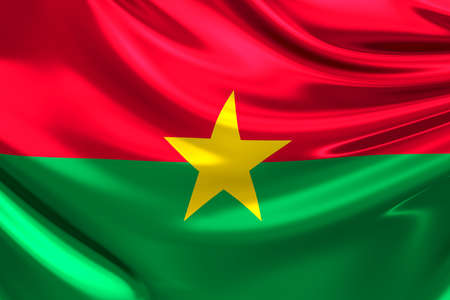 burkina faso: Flag of Burkina Faso.