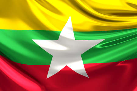 myanmar: Flag of Burma (the Republic of the Union of Myanmar)