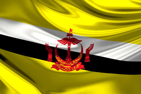 abode: Flag of Brunei (Nation of Brunei, the Abode of Peace).