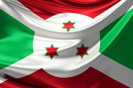 burundi: Flag of Burundi. Stock Photo