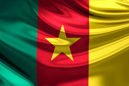 cameroon: Flag of Cameroon.