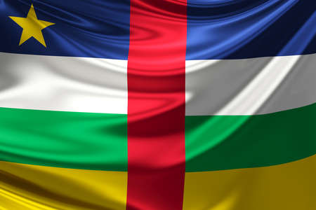 central african republic: Flag of The Central African Republic.