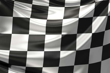 Checkered flag.
