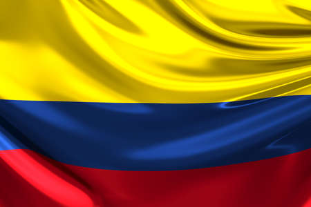 colombia: Flag of Colombia.