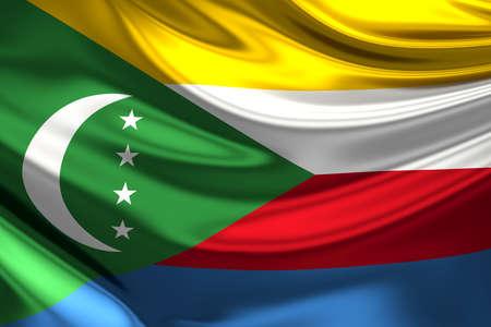 comoros: Flag of the Comoros.