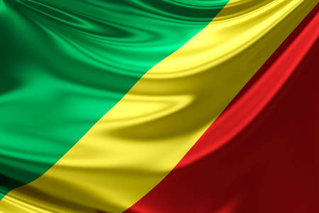 anthem: Flag of The Republic Of The Congo. Stock Photo