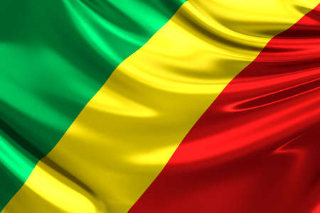 republic of the congo: Flag of The Republic Of The Congo. Stock Photo