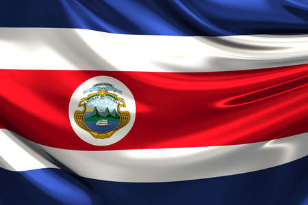 rican: Flag of Costa Rica. Stock Photo