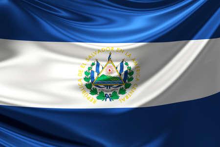 bandera de el salvador: Bandera de El Salvador. Foto de archivo