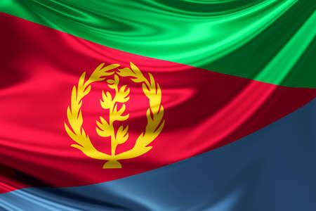 eritrea: Flag of Eritrea.