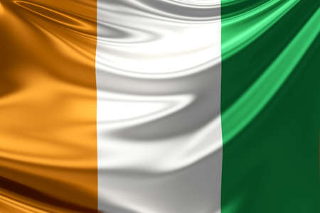 ivory: Flag of Ivory Coast.