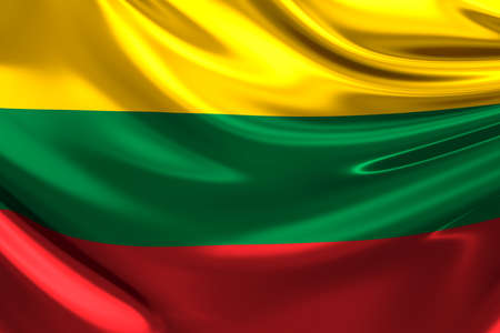 lithuania: Flag of Lithuania. Stock Photo