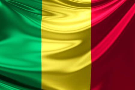 anthem: Flag of Mali. Stock Photo