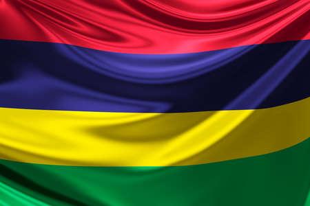 mauritius: Flag of Mauritius.
