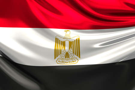 flag of egypt: Bandera de Egipto.
