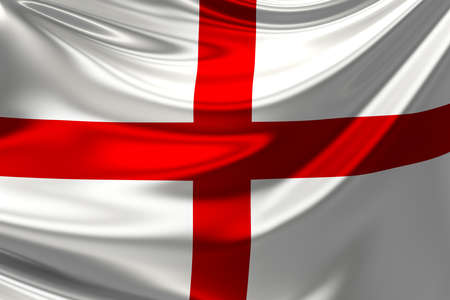 anthem: Flag of England. St Georges Cross. Stock Photo
