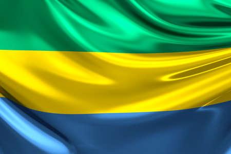 gabon: Flag of Gabon.