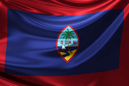 guam: Flag of Guam. Stock Photo