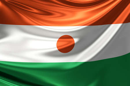 niger: Flag of Niger. Stock Photo