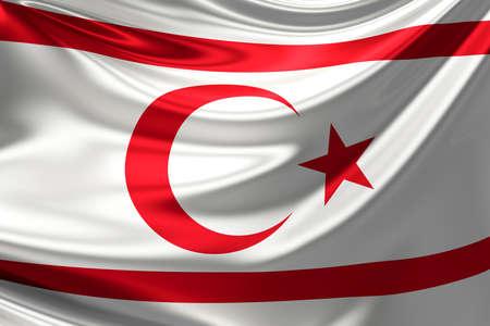 Flag of Northern Cyprus. Stock Photo