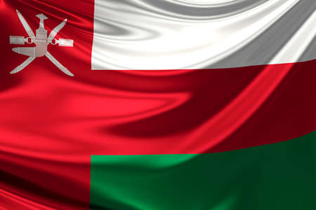 oman: Flag of Oman. Stock Photo