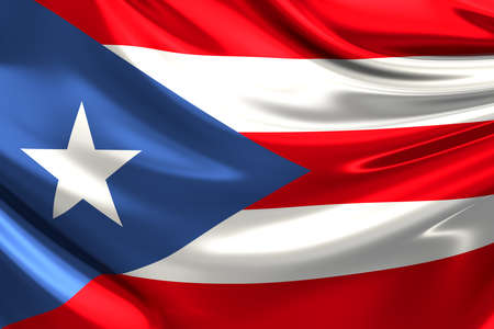 bandera de puerto rico: Bandera de Puerto Rico. Foto de archivo