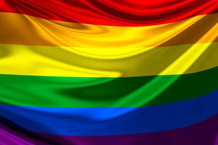 Rainbow flag. Фото со стока