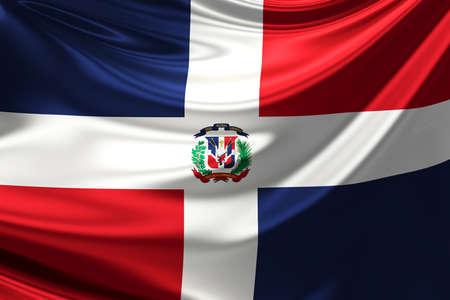 rn3d: Flag of Dominican Republic.