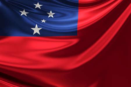 samoa: Flag of Samoa. Stock Photo