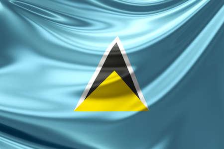 saint: Flag of Saint Lucia.