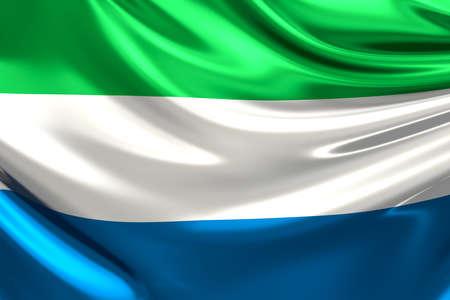 leone: Flag of Sierra Leone.