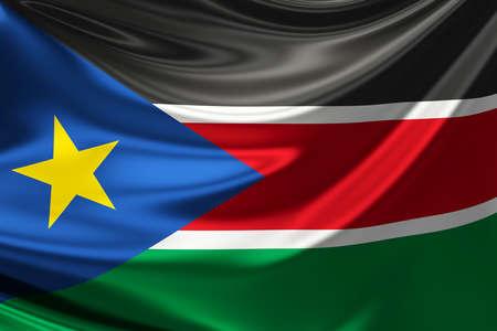 anthem: Flag of South Sudan. Stock Photo