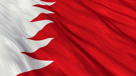 bahrain: Flag of Bahrain. Stock Photo