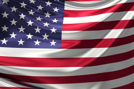 anthem: Flag of the USA. Stock Photo