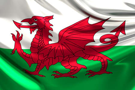 Flag of Wales. photo