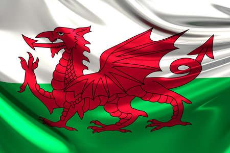 anthem: Flag of Wales. Stock Photo