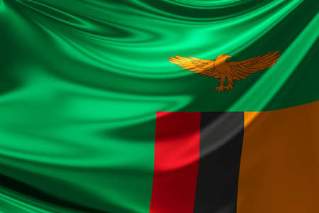 zambian flag: Flag of Zambia.