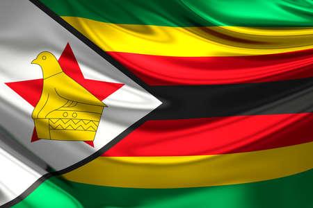 zimbabue: Bandera de Zimbabwe.