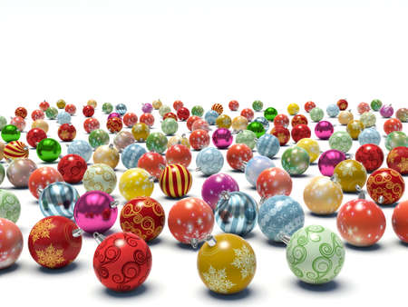 Christmas baubles. 3d render illustration