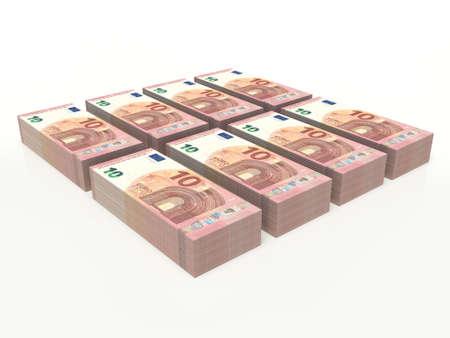 ten euro banknote on white background