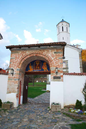 ortodox: Entrance to an Ortodox monastery Stock Photo