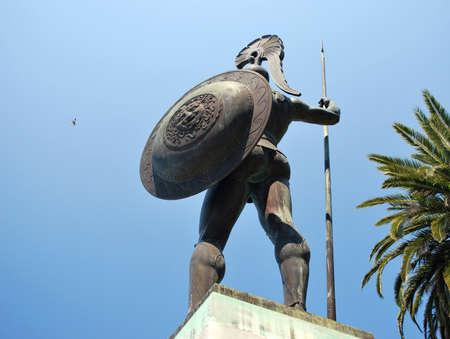 statuary garden: Statue of Achilles in Achillion palace, Corfu
