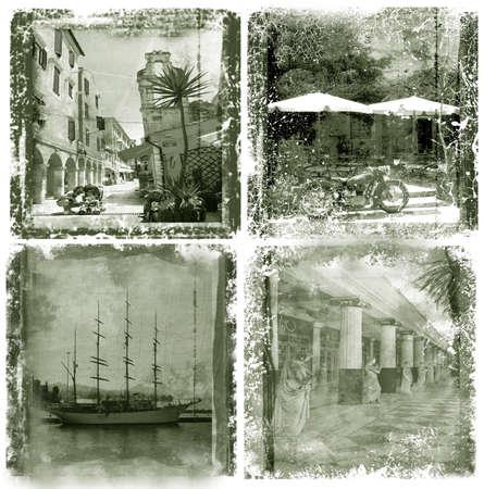 corfu: Corfu, grunge postcard