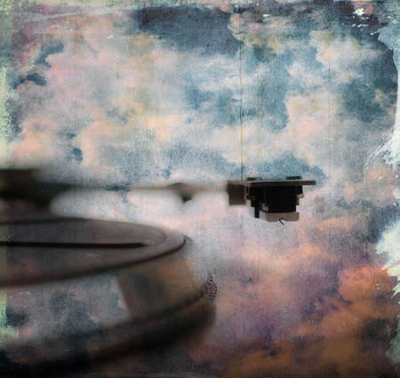 sky phono grunge music Standard-Bild