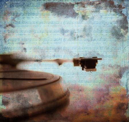 phono:  Phono grunge music Stock Photo