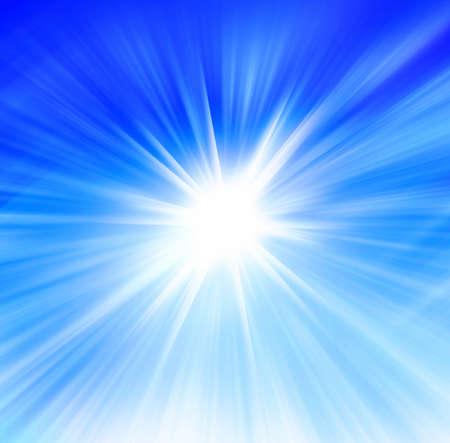 放射状の抽象的なブルーの背景 写真素材