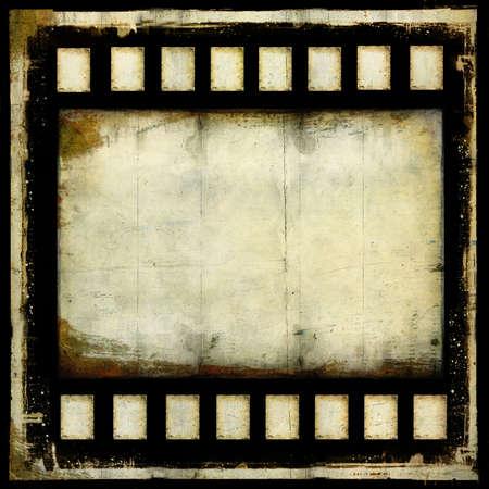 銀行の古いグランジのフィルム フレームのストリップの背景 写真素材
