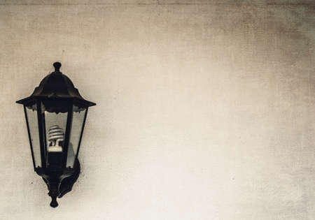 wall lamp with textured background  photo