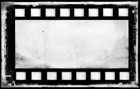 Bank old grunge film strip frame background photo